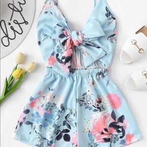 Dresses & Skirts - Baby Blue Romper